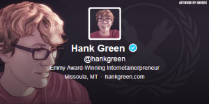 Hank Twitter Bio