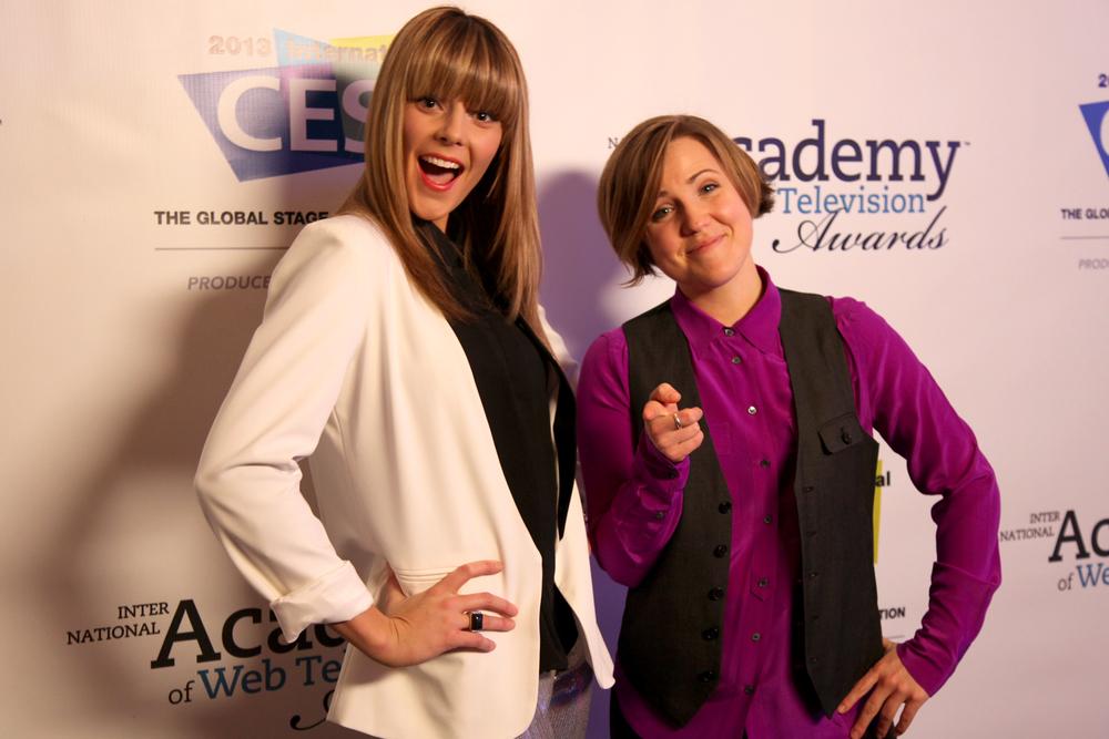 Hannah Hart And Grace Helbig Streamys