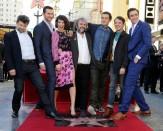 The Tolkien film cast celebrates Peter Jackson's Walk of Fame star