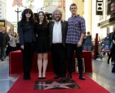 Peter Jackson with Fran Walsh, and Katie and Billy Jackson