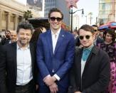 Andy Serkis, Lee Pace, and Elijah Wood