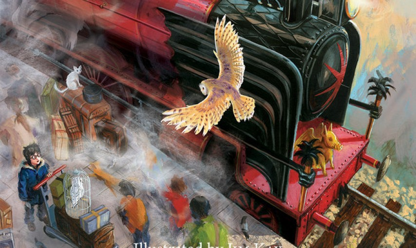 First Illustrated Book Cover : Cover released for first illustrated harry potter book