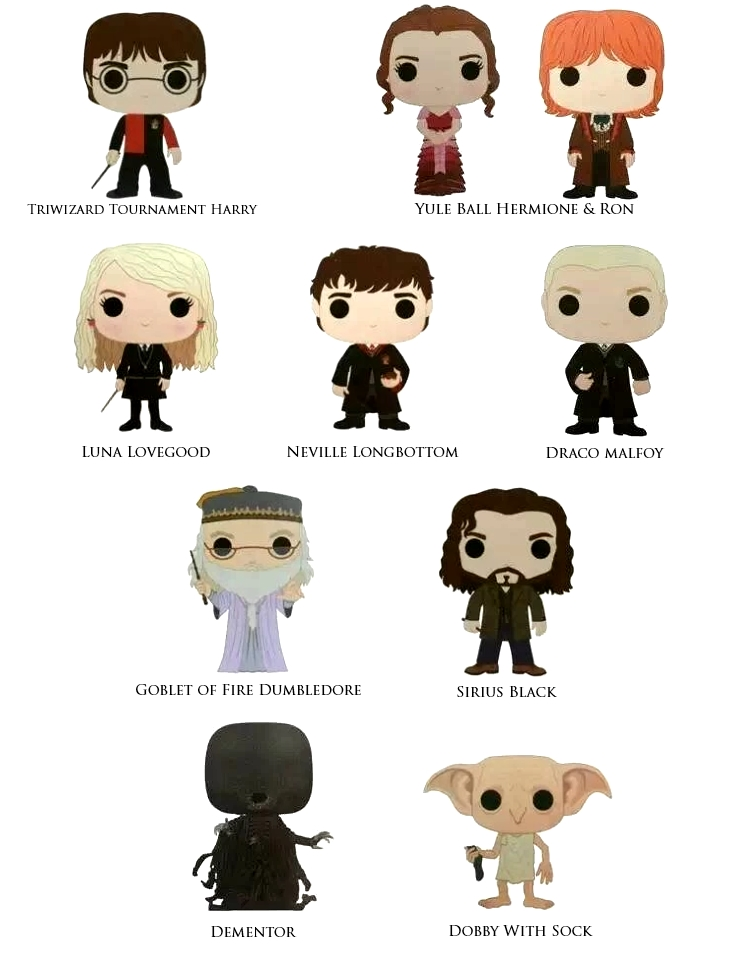 Harry Potter Pop! Wave 2 Concept Art
