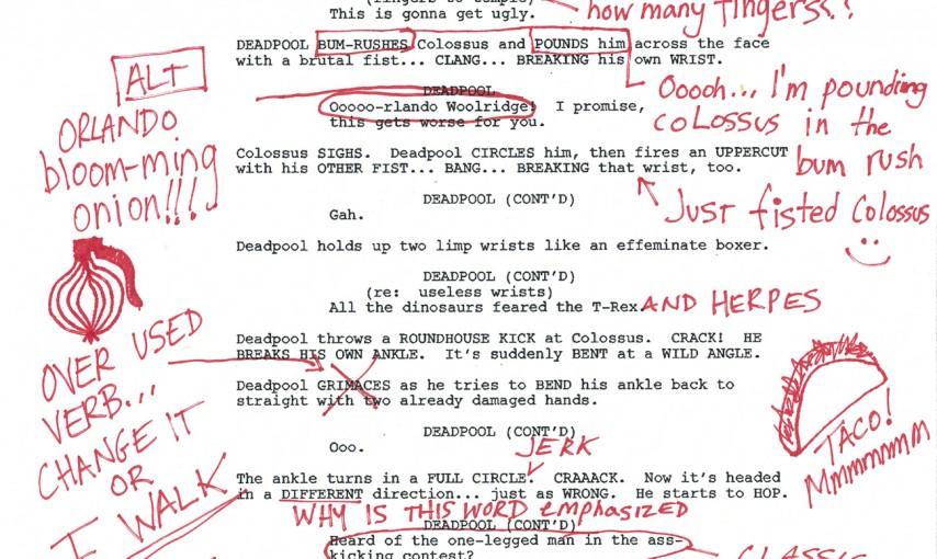 deadpool script