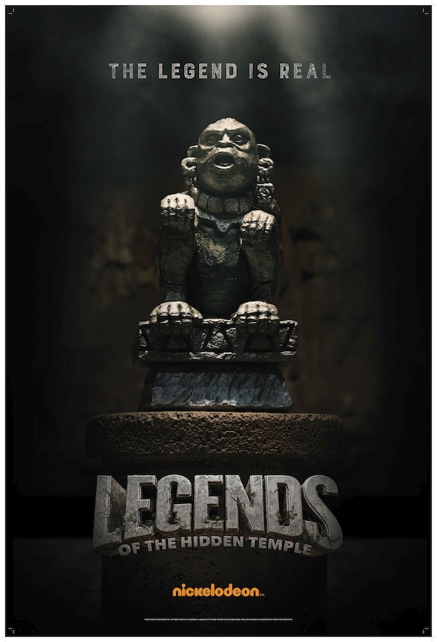 Original olmec to return for legends of the hidden temple movie three new teaser posters were also released featuring olmec two halves of a pendant of life and the correctly assembled shrine of the silver monkey aloadofball Gallery