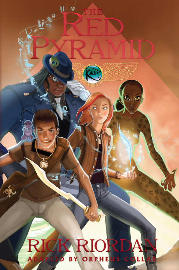 """Cover Art For """"The Red Pyramid"""" Graphic Novel Released ..."""